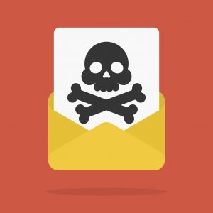 E-mail with spam or internet virus