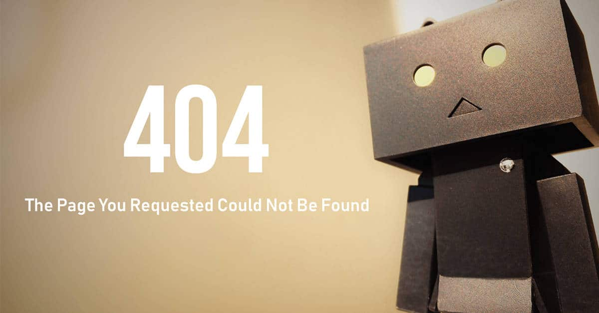 Optimise your 404 page